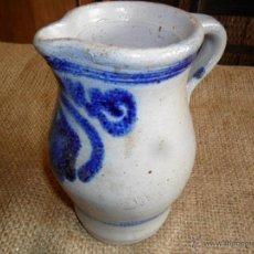 Antigüedades: JARRA DE CERÁMICA - DECORADA EN TONO AZUL COBALTO - ANTIGUA. Lote 49201414