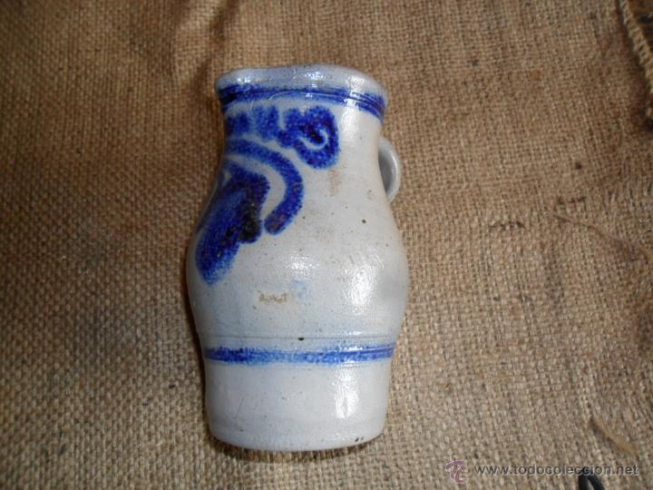 Antigüedades: JARRA DE CERÁMICA - DECORADA EN TONO AZUL COBALTO - ANTIGUA - Foto 2 - 49201414