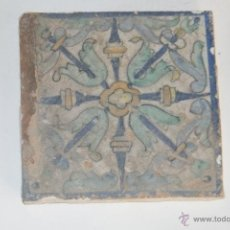 Antigüedades: AZULEJO O RACHOLA RENACENTISTA POSIBLEMENTE TRIANA S XVI. Lote 49204138