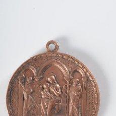 Antigüedades: MEDALLA RELIGIOSA DE COBRE NOTRE DAME DE STAQUELI. Lote 49213227