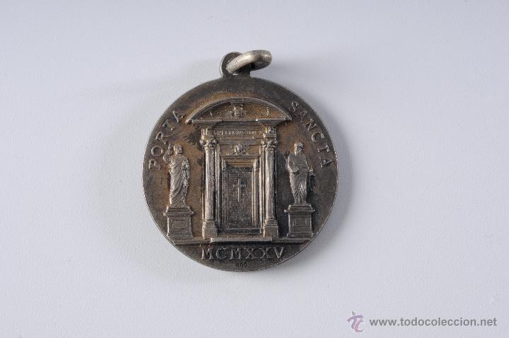 Antigüedades: MEDALLA DE PLATA PIUS XI PON.M A.MAGNI IUBILEI - Foto 3 - 49213360