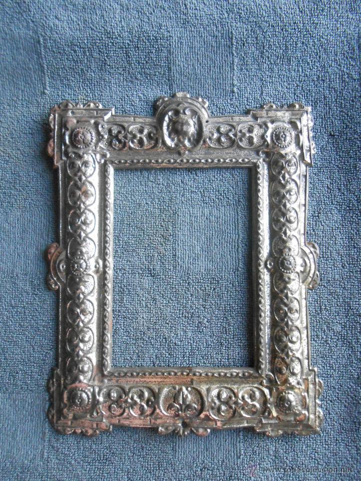 antiguo marco de metal repujado cuadrado. sg xi - Comprar Marcos ...