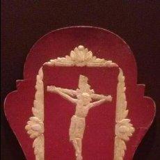 Antigüedades: MARCO RELIGIOSO DEL CRISTO DE LEPANTO - SEMANA SANTA - MEDIDA 22X16CM. Lote 49216467