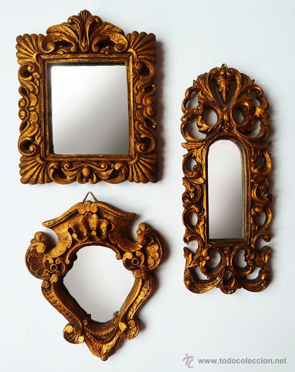 conjunto de 3 espejos antiguos de estilo barroc comprar