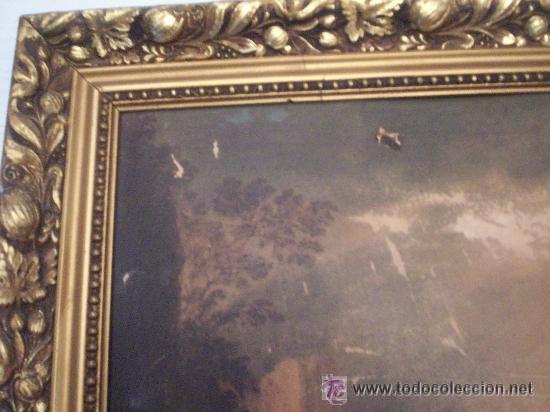 Antigüedades: Antiguo marco dorado - Foto 3 - 49225580