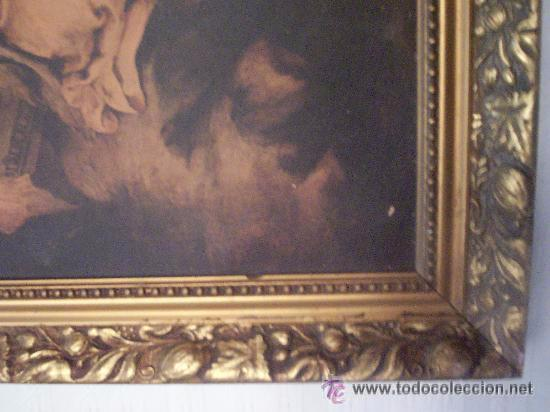 Antigüedades: Antiguo marco dorado - Foto 4 - 49225580