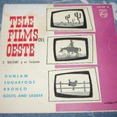 Discos de vinilo: TELE FILMS DEL OESTE -- 1963 -- SUGARFOOT, BRONCO, GUNLAW + 1- (TELEFILMS) + REGALO DE MARIE LAFORET. Lote 49231246
