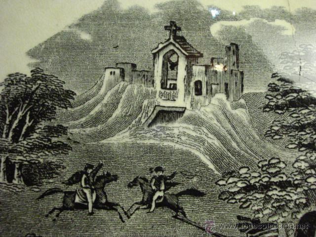 Antigüedades: PRECIOSA FUENTE DE CARTAGENA - LA AMISTAD - AÑOS 1845/1898 - ESCENA TAURINA TOROS - Foto 3 - 49235423