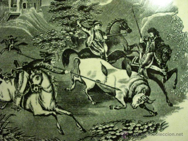 Antigüedades: PRECIOSA FUENTE DE CARTAGENA - LA AMISTAD - AÑOS 1845/1898 - ESCENA TAURINA TOROS - Foto 4 - 49235423