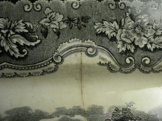 Antigüedades: PRECIOSA FUENTE DE CARTAGENA - LA AMISTAD - AÑOS 1845/1898 - ESCENA TAURINA TOROS - Foto 6 - 49235423