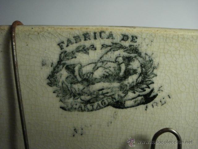 Antigüedades: PRECIOSA FUENTE DE CARTAGENA - LA AMISTAD - AÑOS 1845/1898 - ESCENA TAURINA TOROS - Foto 8 - 49235423