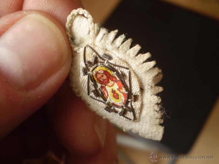 Antigüedades: ANTIGUO PEQUEÑO ESCAPULARIO SIGLO XX. - Foto 2 - 49243127