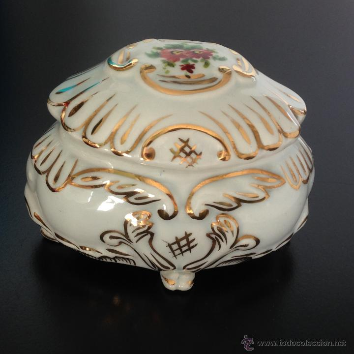 Antigüedades: CAJA JOYERO DE PORCELANA - Foto 6 - 49248384