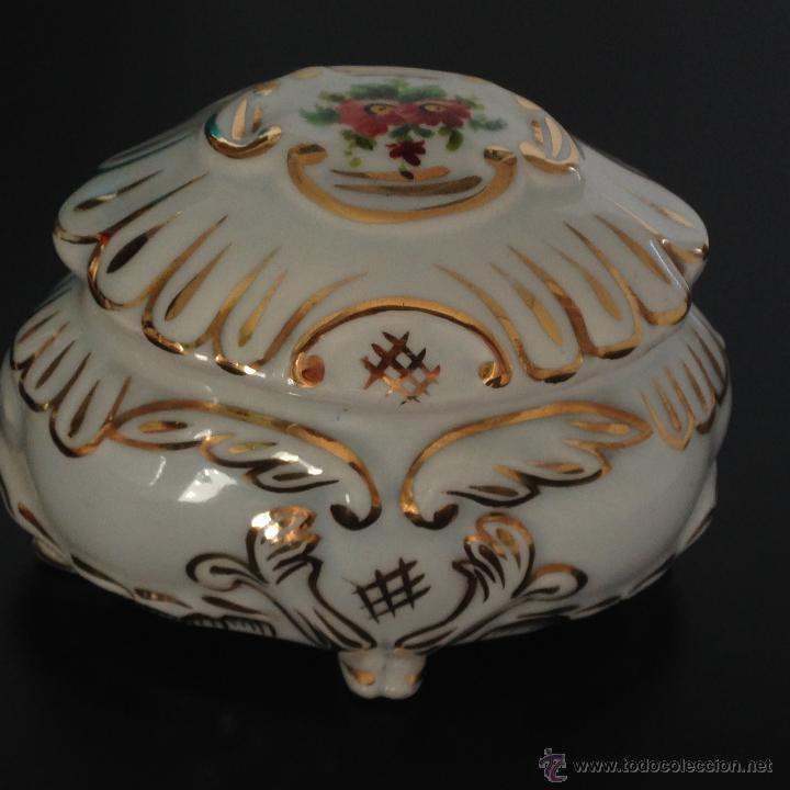 Antigüedades: CAJA JOYERO DE PORCELANA - Foto 8 - 49248384