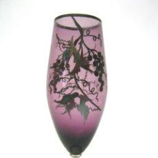 Antigüedades - Bella copa de fino cristal morado con decoraciones en plata - 49250481