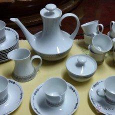Antigüedades: JUEGO DE CAFÉ/ VAJILLA DE 27 PIEZAS DE CERÁMICA BIDASOA. Lote 49258653