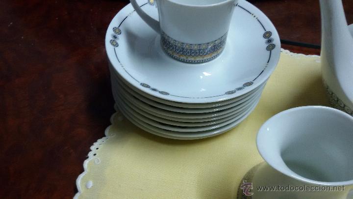 Antigüedades: JUEGO DE CAFÉ/ VAJILLA DE 27 PIEZAS DE CERÁMICA BIDASOA - Foto 3 - 49258653