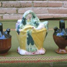 Antigüedades: LOTE DE 3 BOTIJOS PEQUEÑOS. MANISES Y JAEN.. Lote 49259349