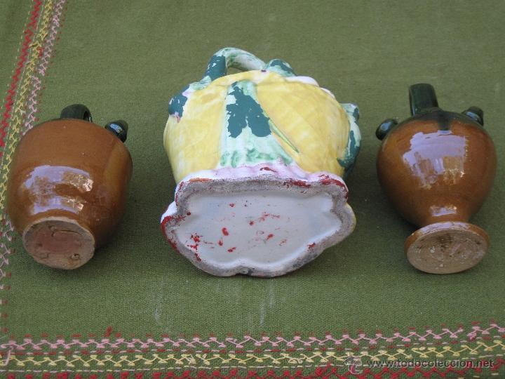 Antigüedades: LOTE DE 3 BOTIJOS PEQUEÑOS. MANISES Y JAEN. - Foto 5 - 49259349