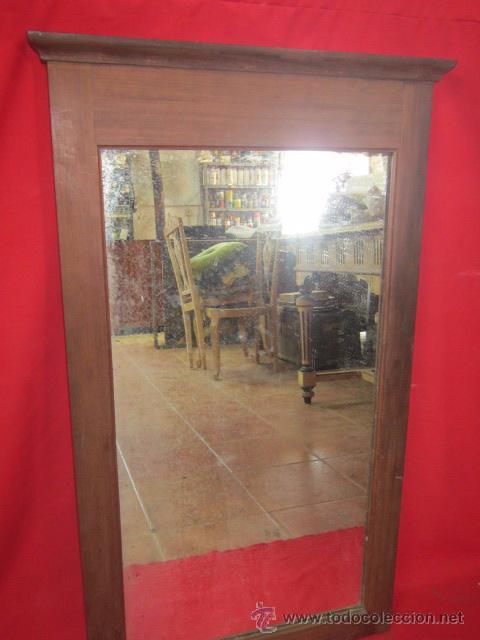 bonito espejo en madera de caoba para restaurar antigedades muebles antiguos