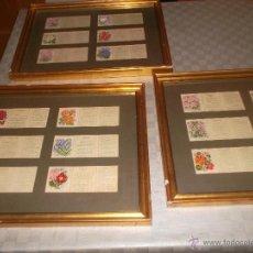 Antigüedades: PRECIOSO LOTE DE BORDADOS DE PLANTA HECHOS A MANO. Lote 49263965
