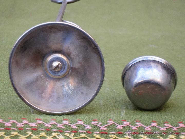 Antigüedades: CALENTADOR ANTIGUO DE COPAS. MARCA : LEONARD - SILVERPLATE - HONG-KONG - Foto 5 - 49264046