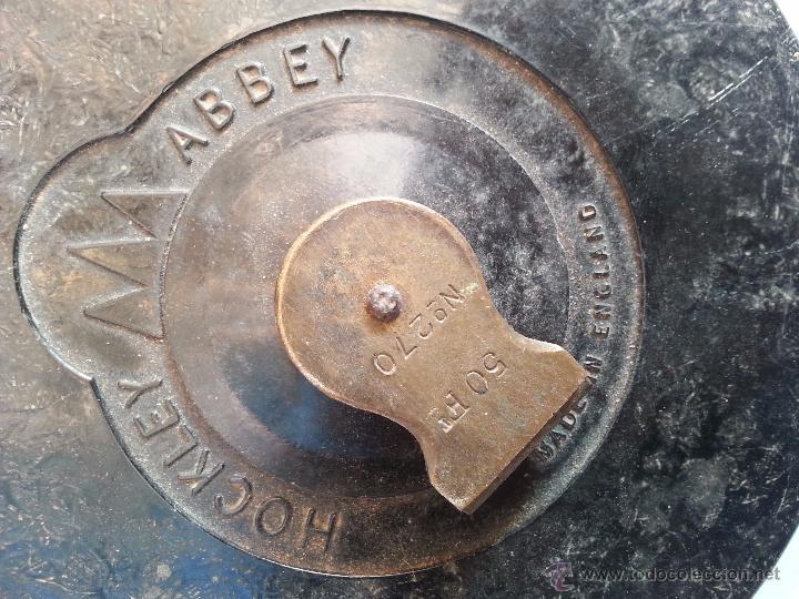 Antigüedades: Metro ingles de laton redondo - Foto 2 - 49449545