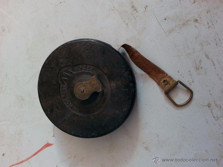 Antigüedades: Metro ingles de laton redondo - Foto 4 - 49449545