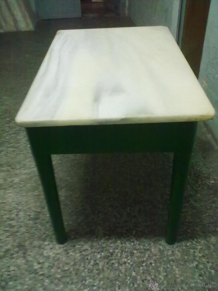 Mesa cocina dos cajones encimera pesado marmol comprar - Mesa cocina con cajon ...