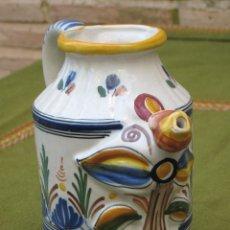 Antigüedades: JARRA ANTIGUA EN CERAMICA PINTADA Y VIDRIADA DE SANGUINO - TOLEDO.. Lote 49269649