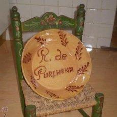 Antigüedades: ANTIGUO LEBRILLO ALFARERIA POPULAR RECUERDO DE PURCHENA ALMERIA.AÑOS 40,50??.. Lote 49276886