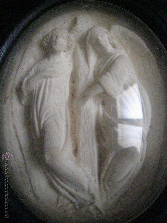 Antigüedades: BENDITERA CON TIMPANO EN ESPUMA DE MAR. S.XIX - Foto 7 - 49277843
