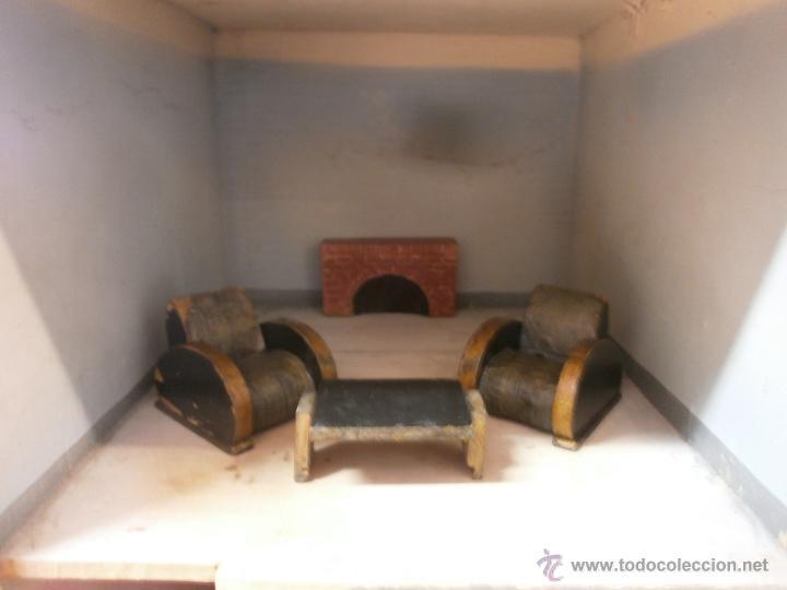Casas de Muñecas: Antigua casa de muñecas-de madera-años 20- estilo colonial con torreón-contiene algunos muebles. - Foto 8 - 49287001