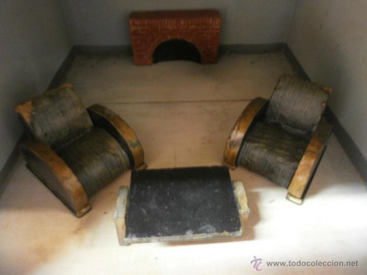 Casas de Muñecas: Antigua casa de muñecas-de madera-años 20- estilo colonial con torreón-contiene algunos muebles. - Foto 16 - 49287001