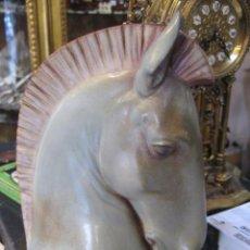 Antigüedades: CABEZA DE CABALLO PORCELANA LLADRO MEDIDA ALTURA 25 CM. ANCHO 17 CM. PERFECTO ESTADO. Lote 49290349