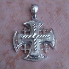 Antigüedades: CRUZ ANTIGUA DE JERUSALEM EN PLATA DE LEY 925 .. Lote 49290958