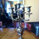 Antigüedades: CANDELABRO DE BRONCE. Lote 49291517