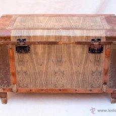 Antigüedades: BAÚL CHAPA SIMULANDO MADERA Nº 1. Lote 49294381