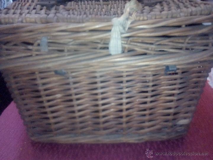 Antigüedades: CANASTO DE MIMBRE - Foto 3 - 49295608