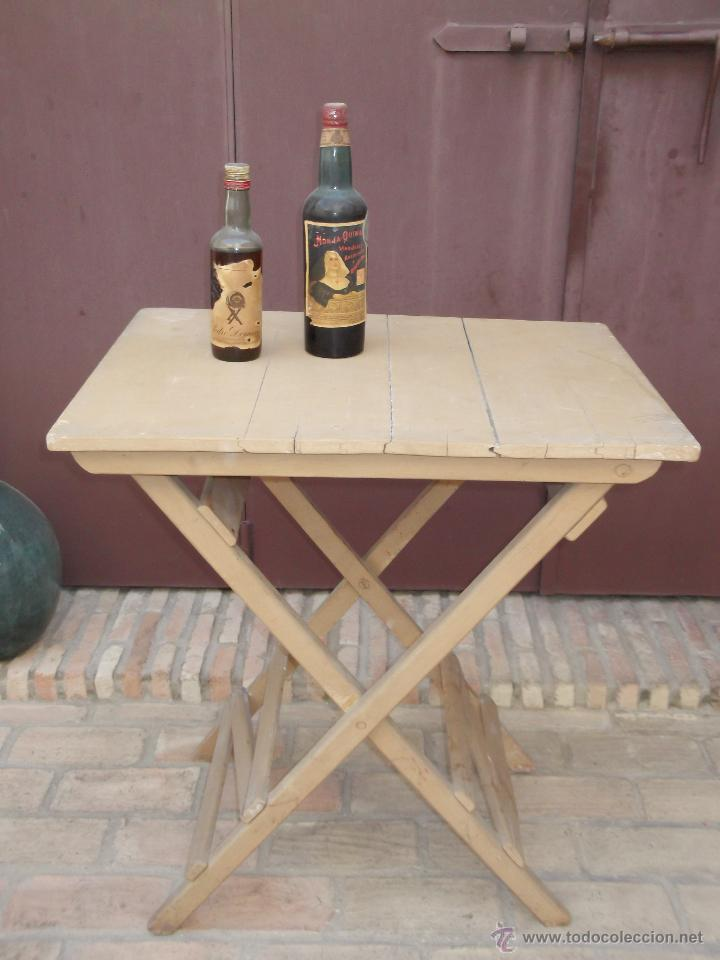 Antigua mesa de bar de madera plegable comprar mesas for Mesas antiguas