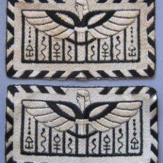 Antigüedades: ANTIGUA PAREJA DE APLIQUES ART DECO BORDADOS CON HILO DE SEDA PPIO.S.XX. Lote 49298695
