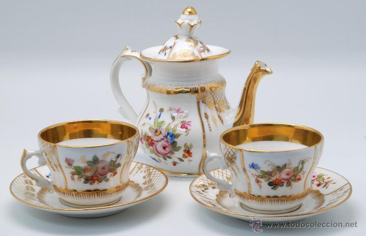Juego caf porcelana viejo par s francia decora comprar for Decoracion con tazas de cafe
