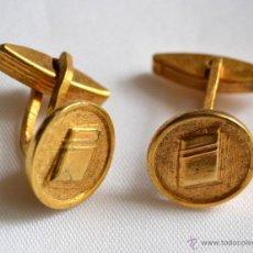 Antigüedades: BELLOS GEMELOS DORADOS. Lote 49306968