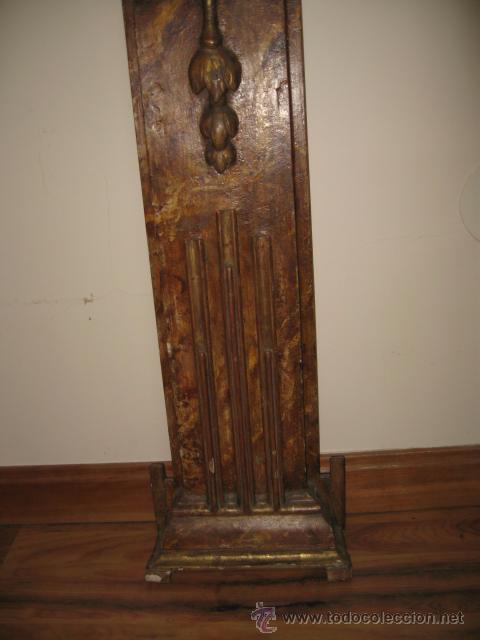 Antigüedades: Antigua Consola de madera tallada y dorada con tapa de marmol altura 97 cm. ancho 116 x 27 cm. - Foto 5 - 49307609