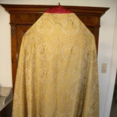 Antigüedades: CAPA PLUVIAL DAMASCO. Lote 49309781