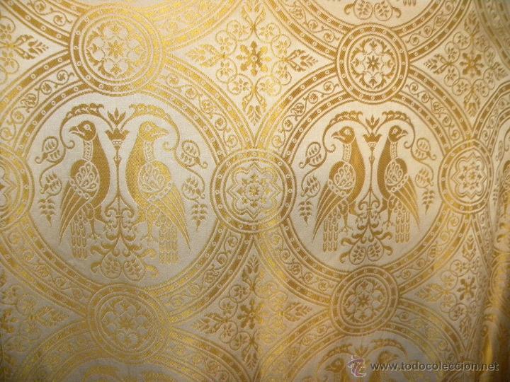 Antigüedades: CAPA PLUVIAL DAMASCO - Foto 2 - 121482647
