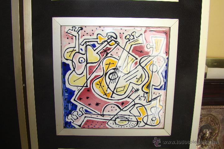 Antigüedades  coleccion de 6 azulejos de salvador dali 1954 firmados y  enmarcados serie limitada - c75de7296ae