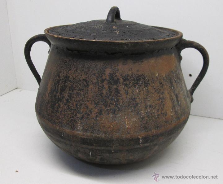 Muy antigua olla de hierro con tapa comprar utensilios for Utensilios de hogar