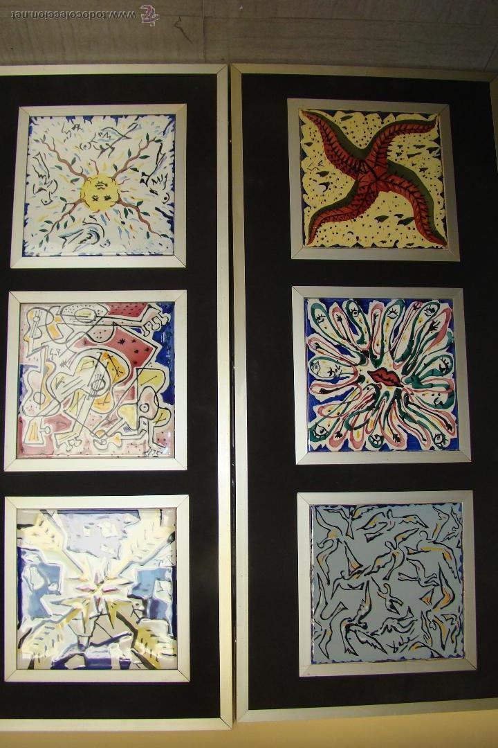 coleccion de 6 azulejos de salvador dali 1954 firmados y enmarcados serie  limitada b86c47041d2