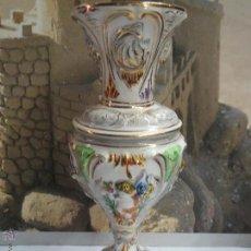 Antigüedades: FLORERO PORCELANA FINA ELPA,ALCOBACA PORTUGAL.29 CM. Lote 49335003